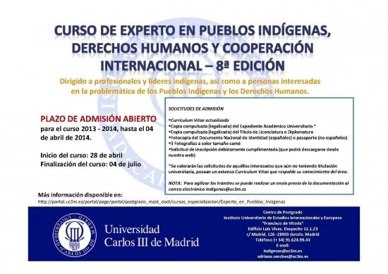 8a EDICION CURSO EXPERTO PUEBLOS INDÍGENAS
