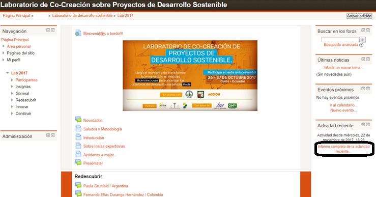 Muy Pronto la 4ta Edición del Principal Laboratorio de Co-creación sobre Proyectos de Desarrollo Sostenible